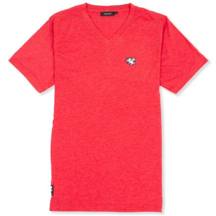 Senlak V-Neck Triblend Logo T-shirt - Red